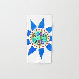 Good Vibes-Blue Hand & Bath Towel