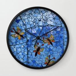 Butterfly Mosaic Wall Clock