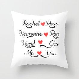 Valentine's Romance: books-tv Throw Pillow