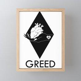 GREED Framed Mini Art Print