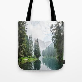 Forest Reflection in Italy Tote Bag