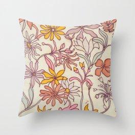Pretty Floral Throw Pillow