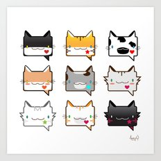 Convo Cats! Art Print