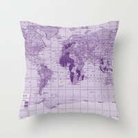 prince Throw Pillows featuring Prince by Catherine Holcombe