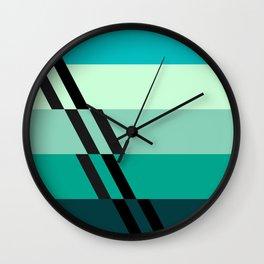 Stripes sliced by stripes. Wall Clock