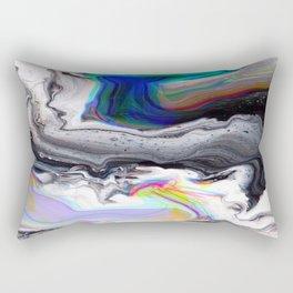 dark marble rainbow Rectangular Pillow