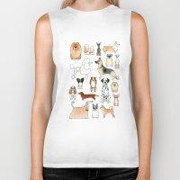 dogs Biker Tanks featuring Dogs by Rebecca Bennett