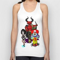 pennywise Tank Tops featuring Triple Tim Treat! Tim Curry as Pennywise, Legend & Frankenfurter in Rocky Horror picture Show by beetoons