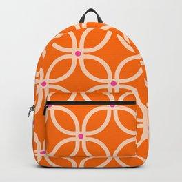 Trellis Orange Backpack