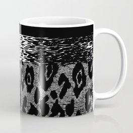ANIMAL PRINT CHEETAH LEOPARD BLACK WHITE AND SILVERY GRAY Coffee Mug