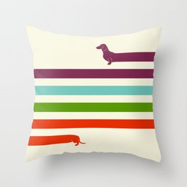 (Very) Long Dachshund Throw Pillow