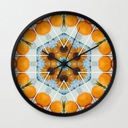 sunflower squeeze Wall Clock