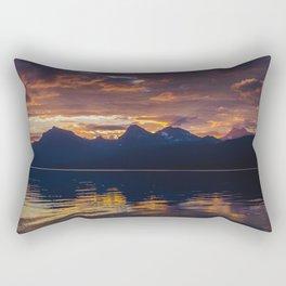 Sunrise Glacier National Park - Lake McDonald Rectangular Pillow
