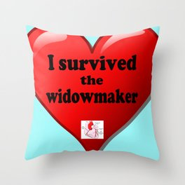 I Survived the Widowmaker Throw Pillow