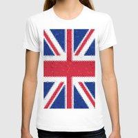 british flag T-shirts featuring British flag mosaic by Zora Zora