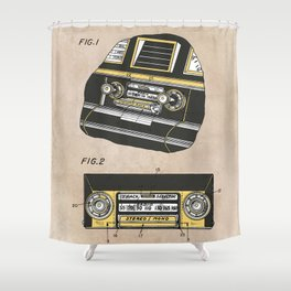 patent Selective stereo tape cartridge player Shower Curtain