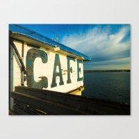 cafe Canvas Prints featuring Cafe by k.szczpnc