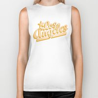 los angeles Biker Tanks featuring Los Angeles by GetSolidGold