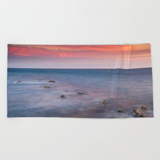 """Living...."" Love the sea.... Beach Towel"
