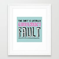 fault Framed Art Prints featuring courfeyrac's fault by Gender Monster