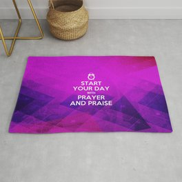 Start your Day with Prayer & Praise - Bible Lock Screens Rug