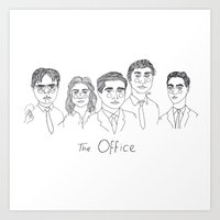 cactei Art Prints featuring The Office by ☿ cactei ☿