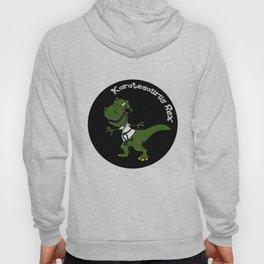 Karatesaurus Rex Karate Present Gift Dino Dinosaur Hoody