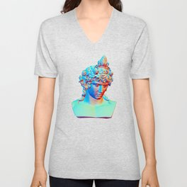 Bust of Antinous as Dionysus Unisex V-Neck