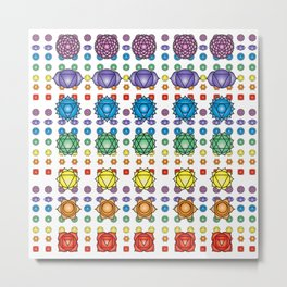 Chakra's pattern Metal Print