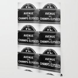 Avenue des Champs Elysees in Paris Wallpaper