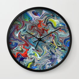 Abstract Oil Painting 11 Wall Clock