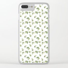 Watercolour Avocado Pattern Clear iPhone Case