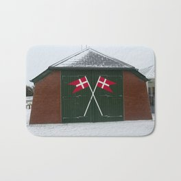 Wintertime Skagen in Denmark Bath Mat