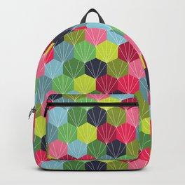Geometric Hexie Honeycomb Colorful Backpack