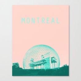 Montreal Biosphere Pastel Canvas Print