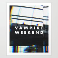 vampire weekend Art Prints featuring Vampire Weekend 3 by alboradas