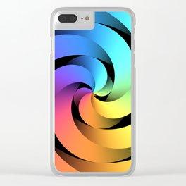 Spiraling Spirals Clear iPhone Case