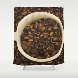 gimme a cup of coffee Shower Curtain