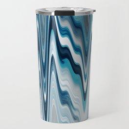 blue art, wave art, ocean art, earth art, contemporary print, painting print, beautiful art, wall de Travel Mug