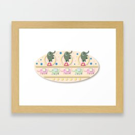 Circus Elephants Framed Art Print