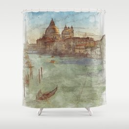 Venezia Canal Grande - SKETCH Shower Curtain