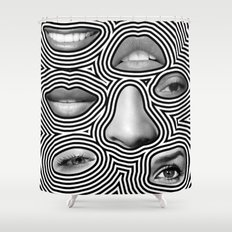 Silver Abuse Shower Curtain