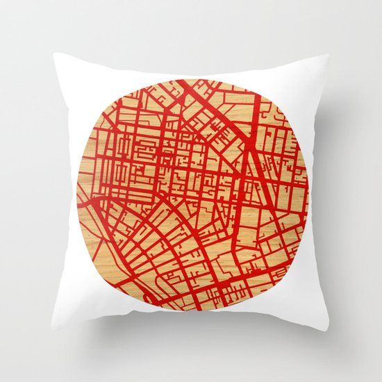 Map of the Town Throw Pillow