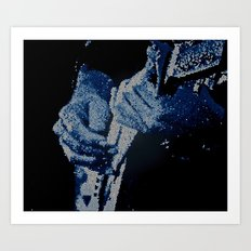 Mosaic Blues Art Print