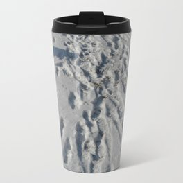 Seashore Footsteps Travel Mug