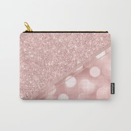 Elegant girly blush pink bokeh glam glitter Carry-All Pouch