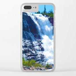 Geraldine Waterfall located in Jasper National Park, Canada Clear iPhone Case