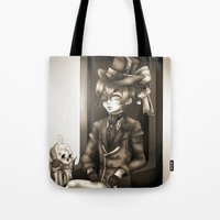 kuroshitsuji Tote Bags featuring Ciel Phantomhive - The Queen's Watchdog by Lalasosu2