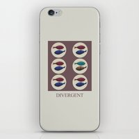 divergent iPhone & iPod Skins featuring Divergent by Galen Valle