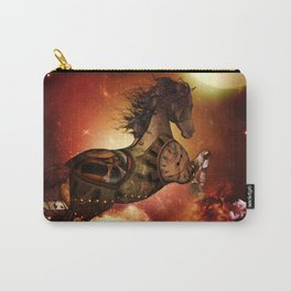 Steampunk, awesome steampunk horse Carry-All Pouch